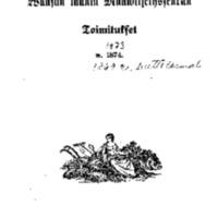 Waasan läänin maanviljelysseuran toimitukset w. 1874 [Elektroninen aineisto]