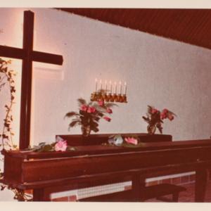 Piirisairaalan kirkon alttari