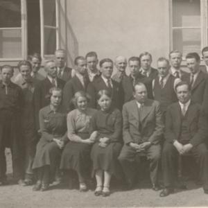 Lakeus-lehden henkilökuntaa 1936